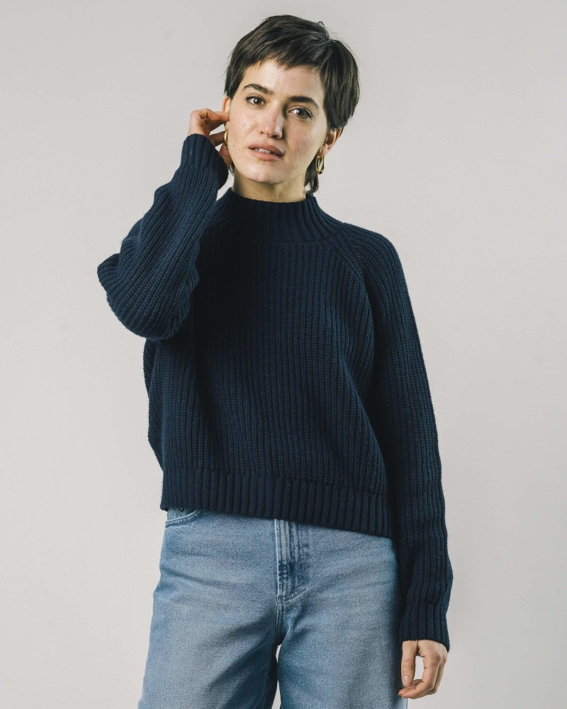 Moscow Cropped Sweater Navy