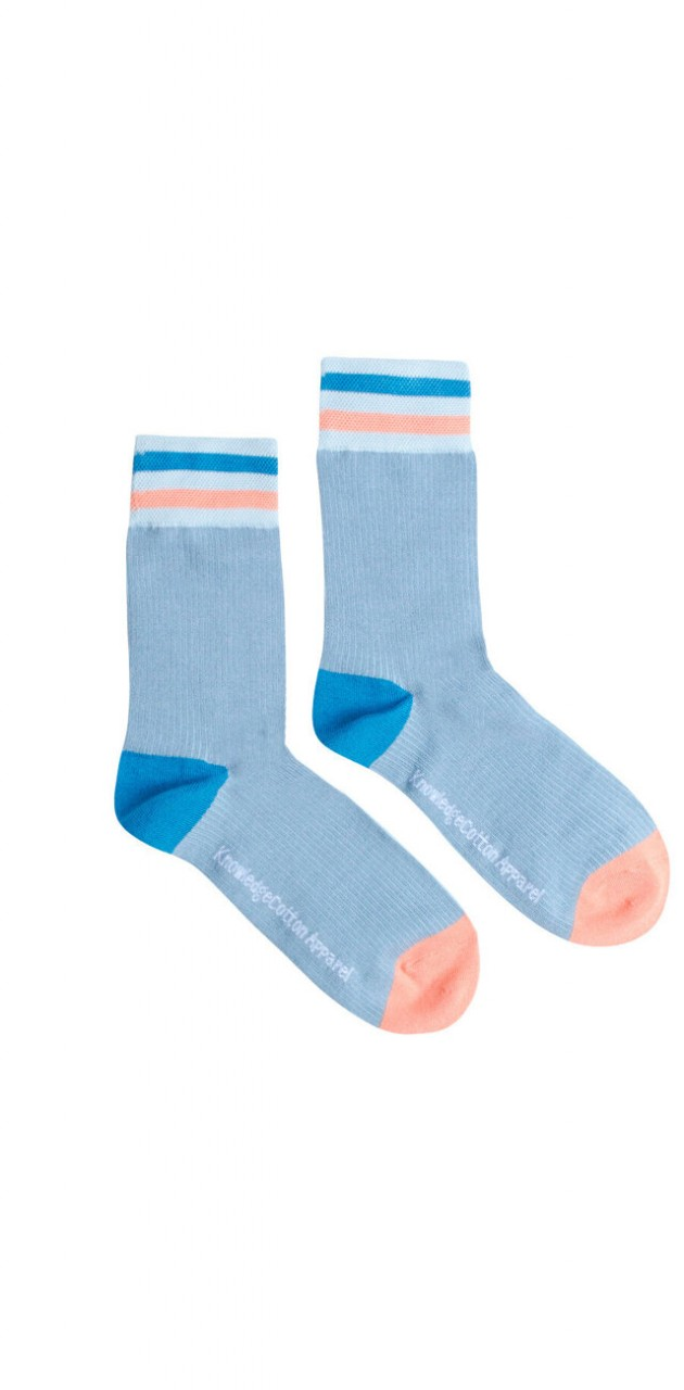 DIANE colorblock rib socks Asley Blue