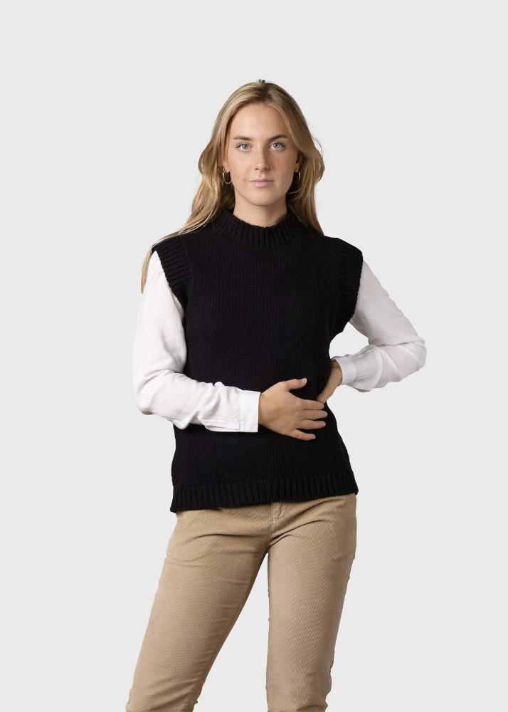 Leah knit vest Black