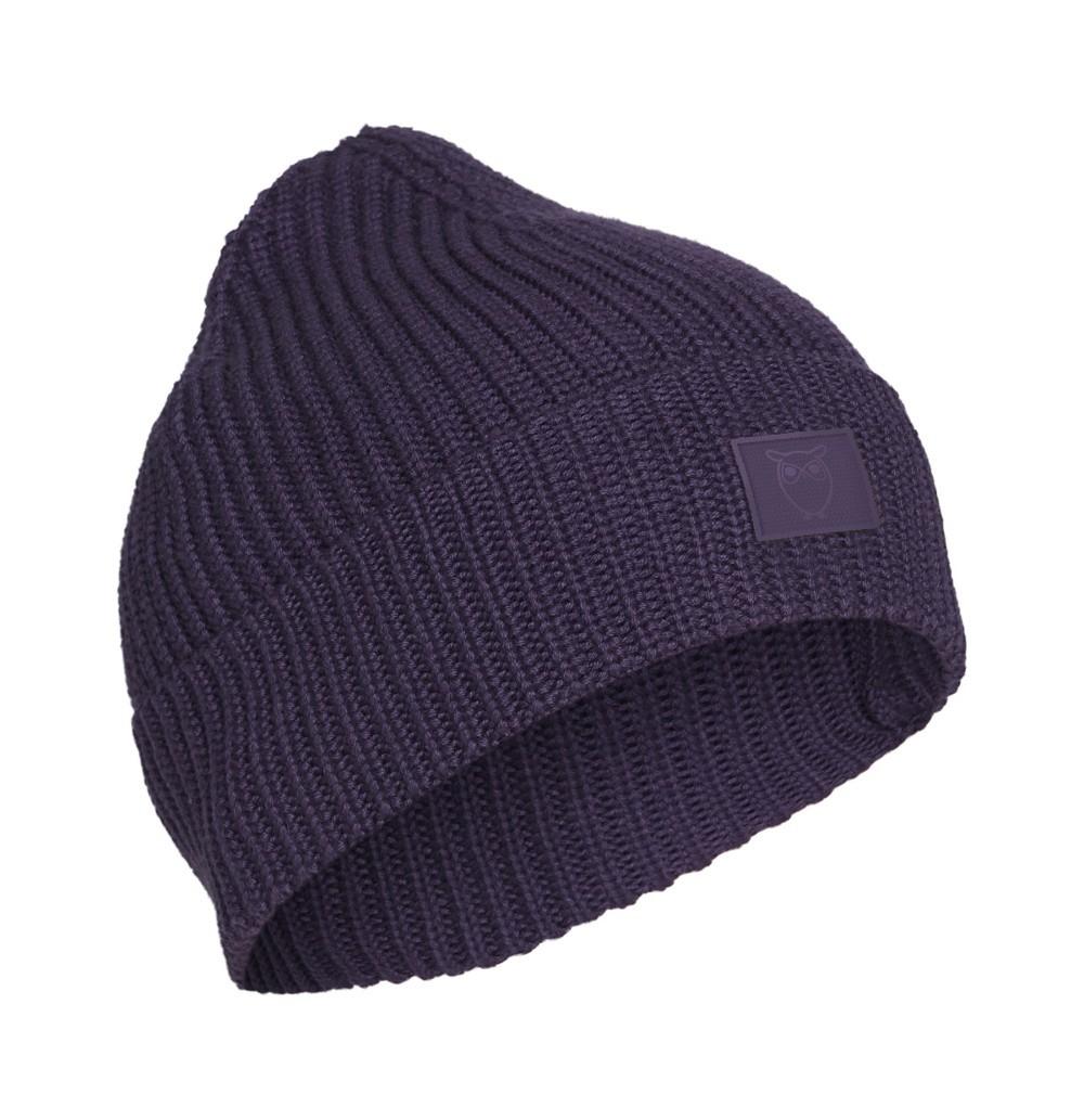LEAF ribbing hat - Vegan Purple Velvet